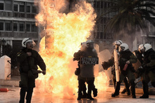 Yunanistan'da dev protesto