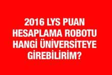 2016 LYS puan hesaplama robotu