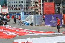 Taksim CHP mitingi için hazır! Dikkat çeken detay