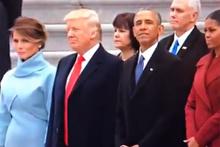 Trump'ın yemin töreninde gözden kaçan o an!