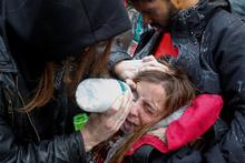 ABD polisi göstericilere acımıyor