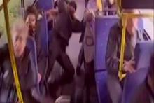 Otobüsteki can pazarı kamerada