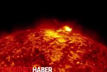 Güneş görüntülerinde bir ilk NASA yayınladı