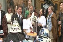 Los Angeles'ta Star Wars temalı düğün