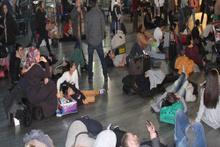Atatürk Havalimanı'nda 'gecikme' arbedesi