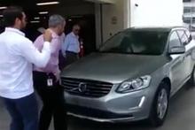 İnsan görünce duran arabanın duramaması!