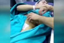 Narkozlu genç koparttı! Sanal alemi sallayan video