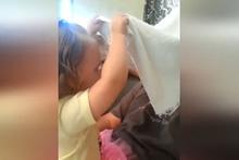 Babasını ilk kez sakalsız gören bebeğin tepkisi