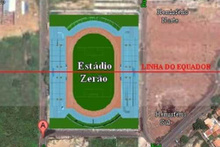 Brezilya'daki Zerao Stadyumu ekvator çizgisinin tam ortasından geçiyor!