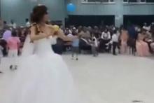 Düğününde kendinden geçen gelin olay oldu!