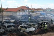 Konya'da 70 araç kül oldu!