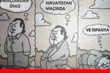 Türkiye - İspanya maçı capsleri