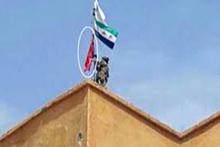 Cerablus Keklice'ye ÖSO bayrak dikti