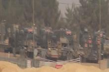 Tanklar ve iş makinaları Suriye sınırından girdi