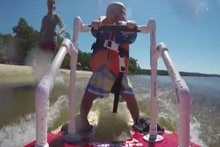 En genç su kayakçısı olmaya aday