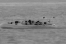 Göçmenler denizin ortasında böyle yakalandı!