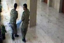 Darbeci binbaşının öldürülme anı güvenlik kamerasında