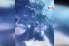Başakşehir'de meydana gelen patlama güvenlik kamerasında