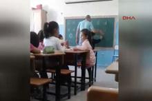Dayakçı öğretmene aileden tepki
