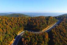 Longozun sonbahardaki güzelliği havadan görüntülendi