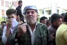 Bir Kürt'ün ABD'ye 'bizi sattın' isyanı kamerada