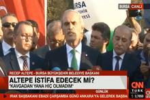 Bursa Belediye Başkanı Recep Altepe istifa konuşması!