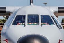 Milli maça askeri uçakla gittiler!