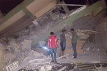 Irak'taki deprem sonrası yıkılan evler