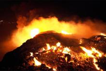 Denizli'de yangın paniği: Kilometrelerce uzaktan görüldü!