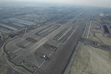 3. havalimanı inşaatında Pist 1 havadan görüntülendi