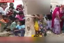 Kadını ağaca bağlayıp, işkence ettiler!