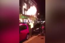 Sokak gösterisinde korkunç olay!