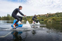 Su üzerinde kullanılabilen harika bisiklet