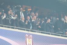 Cumhurbaşkanı Erdoğan, Beşiktaş maçında tribünde
