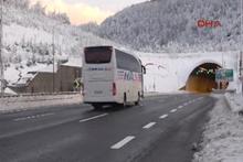 Bolu Dağı'nda kar durdu, ulaşım rahatladı
