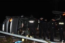 AK Partilileri taşıyan minibüs kaza yaptı! Eski milletvekili...