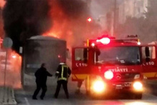 Halk otobüsü alev alev yandı! Çok sayıda yolcu...