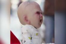 Korkunç bebek görenlerin ödünü patlattı!