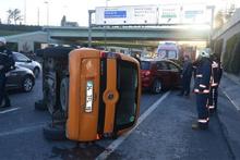 E5'te feci kaza: İstanbul trafiği kilitlendi!