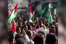 Amman'da 'Recep Tayyip Erdoğan' sloganları