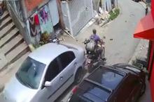 Freni boşalan otomobil dehşet saçtı