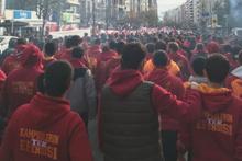 Galatasaray taraftarları deplasman yolunda