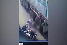 Brezilya'da korkunç kaza! Kadının üzerinden 2 kamyon geçti