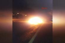 Esenler'de korkunç kaza lüks araç alev topuna döndü