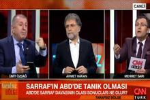 Ahmet Hakan'ın programında kavga! Seni zıplatırım...