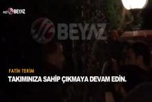 Galatasaray taraftarından Fatih Terim'in evine ziyaret! Terim'den ilk açıklama