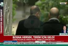 Bosna Hersek Milli Takımı yöneticileri ve Fatih Terim görüştü