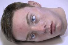 Aşırı ürpertici animatronik kafa