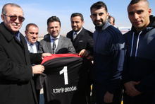 Gaziantepsporlu futbolculardan Erdoğan'a karşılama