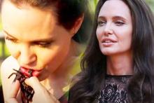 Angelina Jolie şoke etti ünlü yıldız örümcek yedi